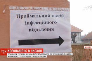 У Чернівецькій області перебуває 5 осіб з підозрою на коронавірус