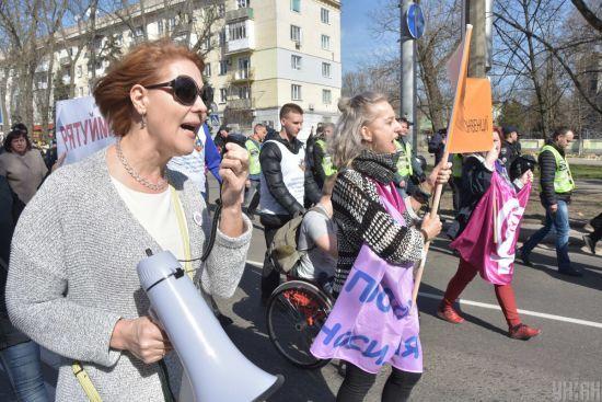 Феміністки та бібліотекарки: як у найбільших містах України відбулися марші за права жінок