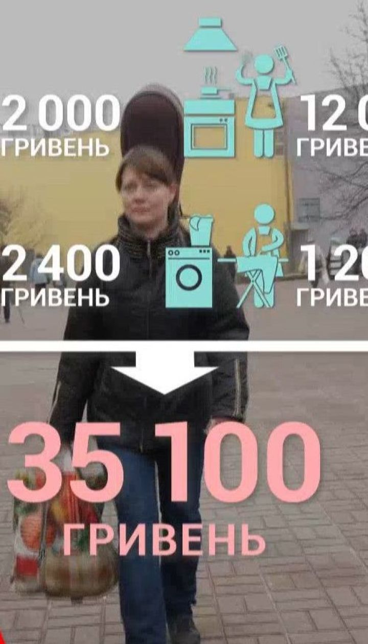Сколько бы зарабатывала в месяц украинка, если бы за всю домашнюю работу получала деньги