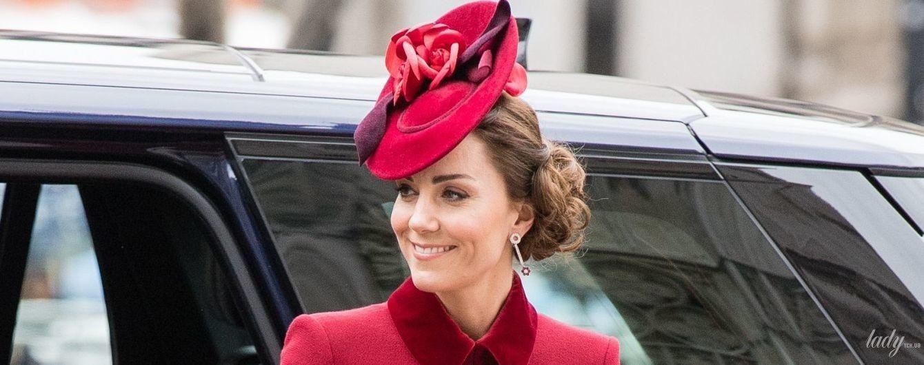 Повторила образ: герцогиня Кембриджська приїхала на службу в старому пальті