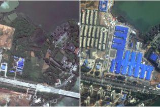 Безлюдные площади и трассы. Как выглядят из космоса азиатские города до и после вспышки коронавируса