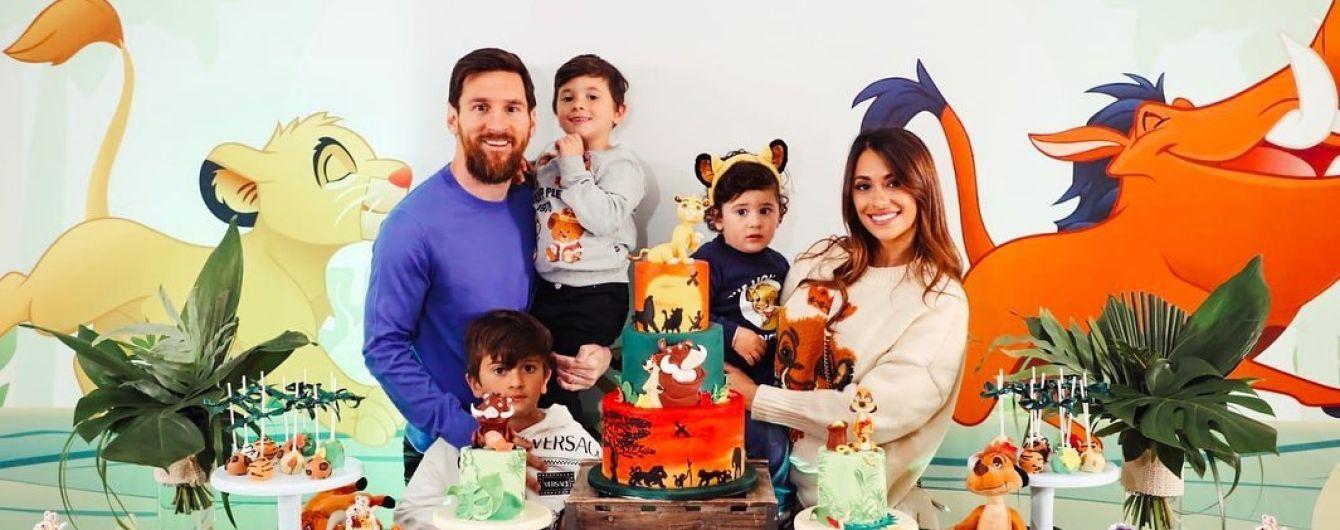 """В стиле """"Короля Льва"""". Месси с женой устроил яркое празднование сыну в честь Дня рождения"""