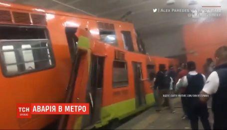 Авария в метро Мехико: на полном ходу столкнулись два поезда