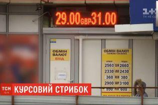 Коливання гривні : за 2 дні валюта офіційно впала приблизно на 70 копійок