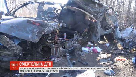 Смертельна аварія у Сумській області: зіткнулися мікроавтобус і пасажирський автобус
