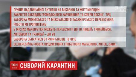 Які додаткові обмежувальні заходи у зв'язку з поширенням короновірусу розпочинають діяти в Україні