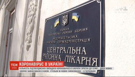Кількість підтверджених випадків коронавірусу в Україні зросла до семи