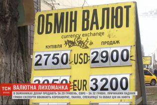 Валютная лихорадка: в обменниках доллар продают за 29 гривен, а евро - за 32 гривны