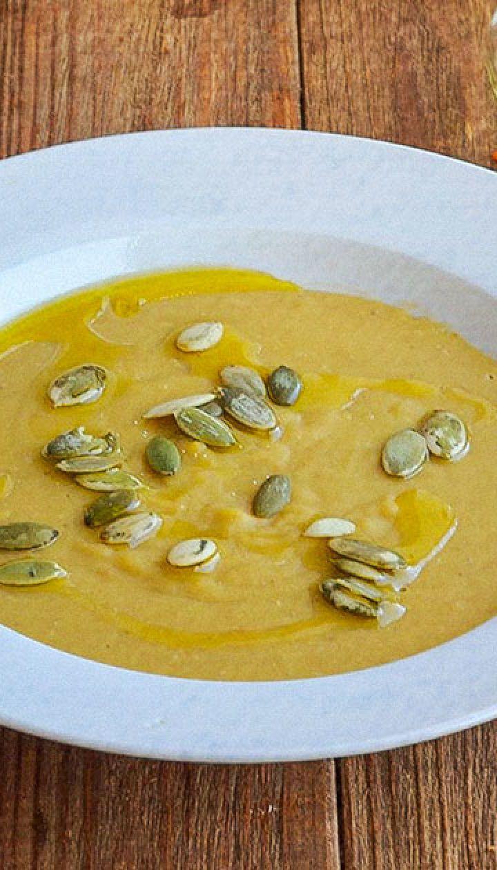 Крем-суп із сочевиці та селери