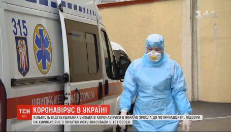 В Украине 14 человек заболели коронавирусом и 181 под подозрением