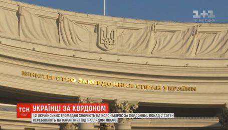 Более 700 украинцев рубежом находятся на карантине, 12 из них больны коронавирус