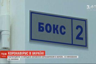 В Україні підтверджено 16 випадків зараження коронавірусом