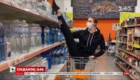 Гімнастка Анна Різатдінова влаштувала справжнє шоу в супермаркеті