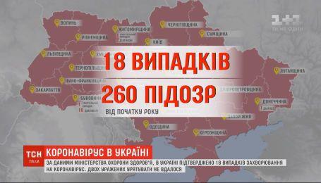 Актуальные данные: инфицированных на коронавирус в Украине - уже 18