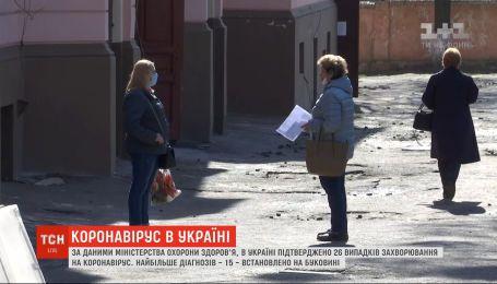 COVID-19 в Украине зафиксировано 26 случаев заболевания - 1 человек вылечился