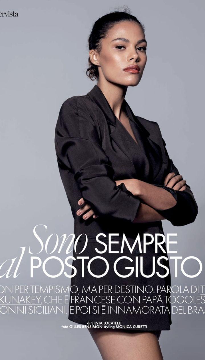 Тина Кунаки в фотосете для Elle Italia