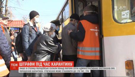 Пренебрежение правилами: Киеве уже составили 162 административных протокола на нарушителей карантина