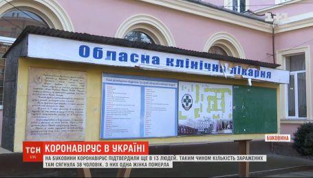 Статистика коронавируса: на Буковине количество зараженных достигло 38