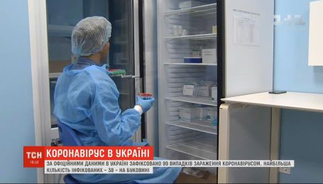 В Україні зафіксовано 99 випадків зараження новою коронавірусною інфекцією