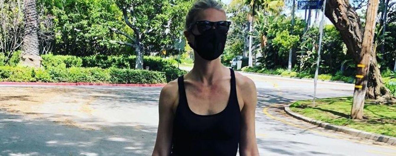 В сарафані, масці і рукавичках: Гвінет Пелтроу сходила на ринок