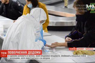 """В аэропорту """"Борисполь"""" принимают спецрейсы с украинцами, которые застряли за рубежом"""