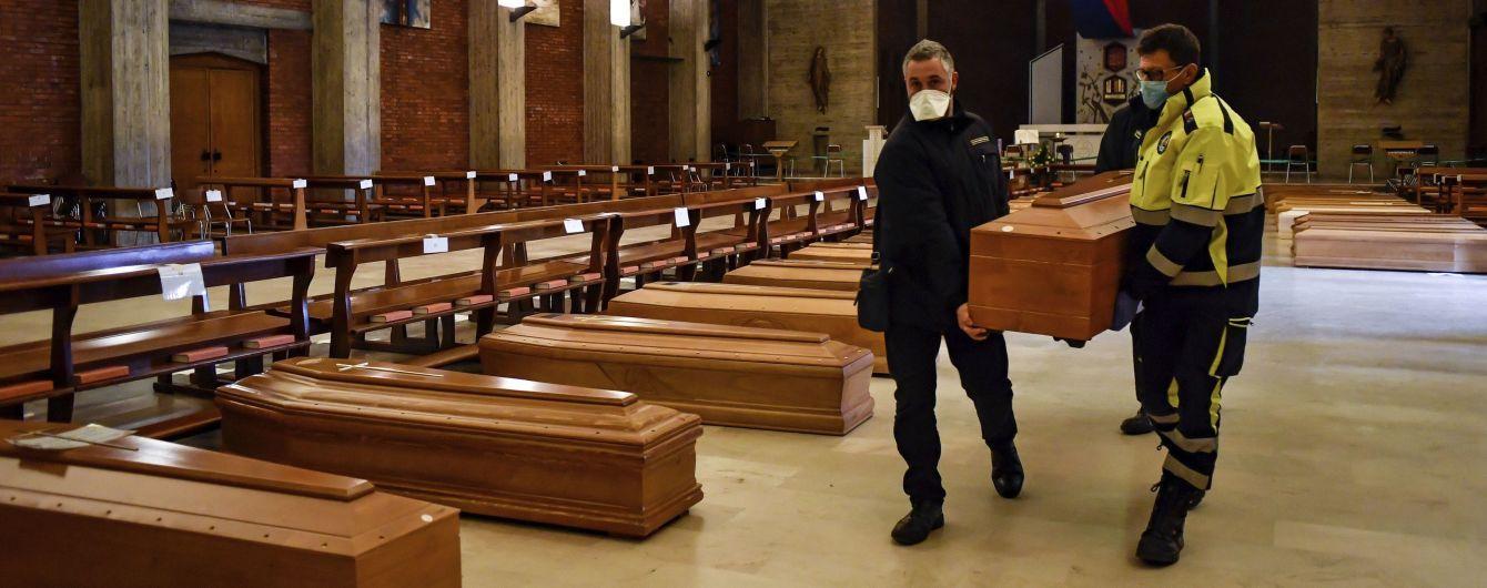 В Італії побиті нові психологічні позначки за кількістю заражених і померлих через коронавірус
