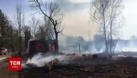 В Черниговской области едва не выгорело дотла все село