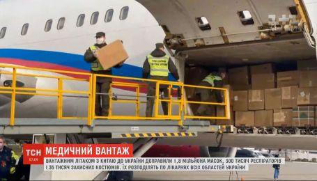 Вантаж з Китаю: ще 100 тисяч тестів на коронавірус мали доправити в Україну вночі