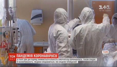 В Італії два дні поспіль знижується кількість смертей від коронавірусу