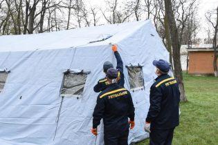 Во всех областях Украины спасатели обустроили пункты приема инфицированных коронавирусом