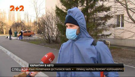 Как и чем обеззараживают остановки общественного транспорта и дороги в Киеве