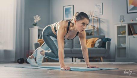 Спорт во время карантина: домашняя тренировка на все тело без дополнительного инвентаря