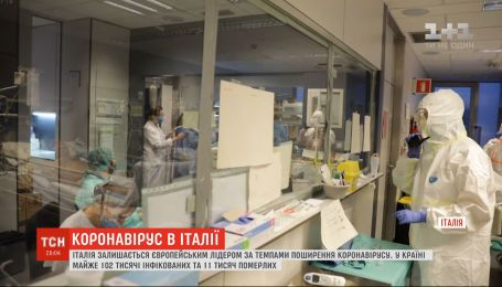 Італія залишається європейським лідером за темпами поширення коронавірусу