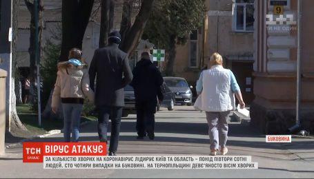 За кількістю хворих на коронавірус лідирує Київ та область