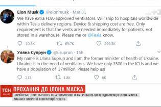 Супрун попросила в Ілона Маска про допомогу у боротьбі з коронавірусом в Україні