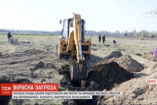 Более 600 могил подготовили в Днепре на случай массовых смертей от коронавируса
