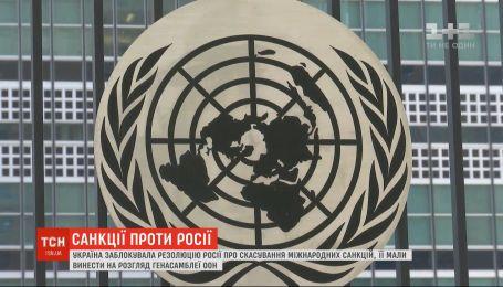 Украина заблокировала в ООН резолюцию России об отмене международных санкций