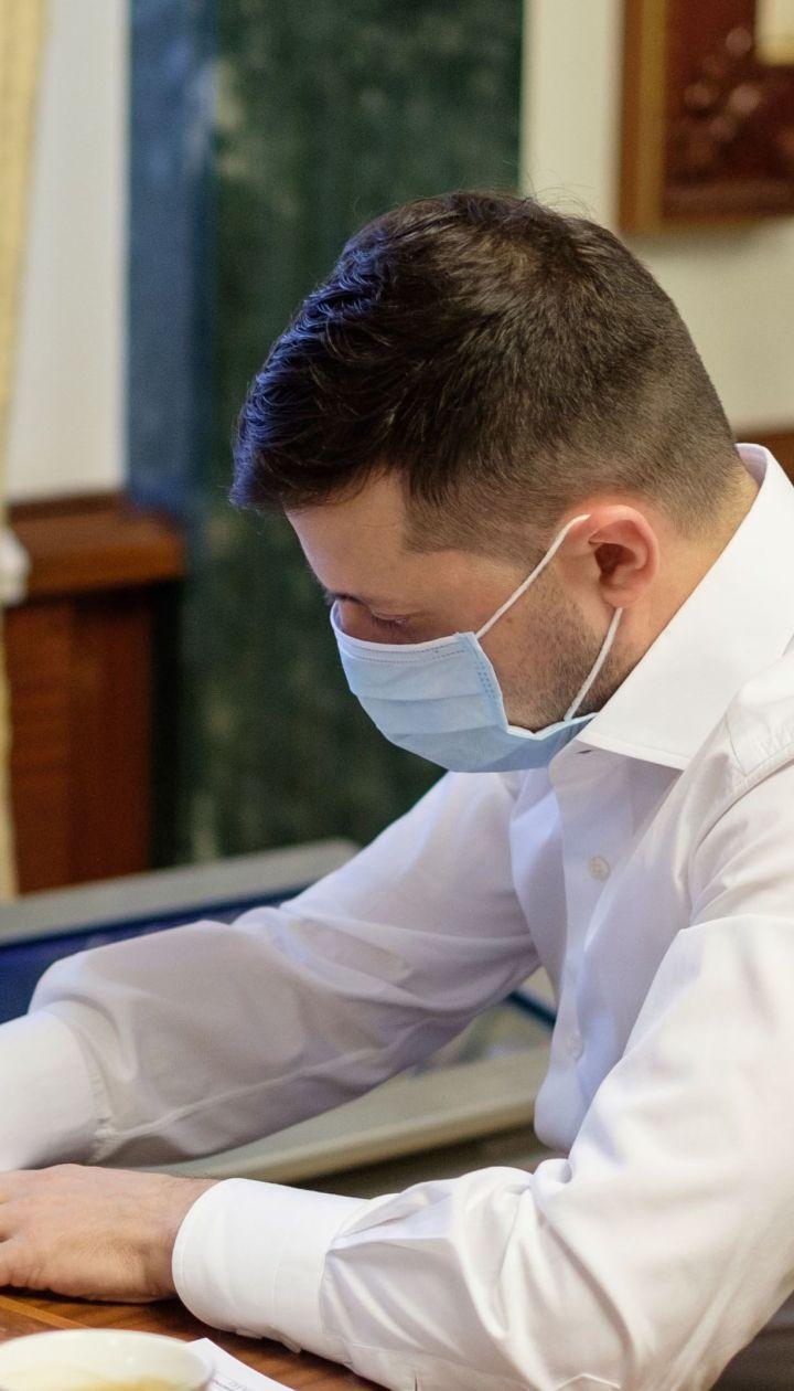 Зеленский назвал причину уменьшения количества инфицированных коронавирусом в Украине
