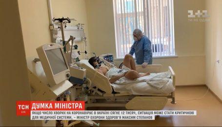 Если число больных на коронавирус в Украине достигнет 12 тысяч, ситуация будет критической - мнение министра