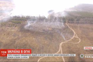 Из-за умышленных поджогов в Украине ежедневно возникают сотни пожаров в полях и лесах