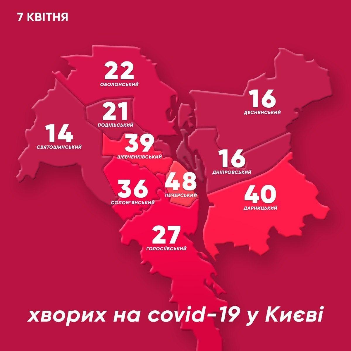 карта районів Києва