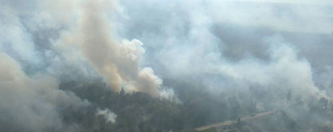 У Чорнобильській зоні горять ліси: площа пожежі збільшилась