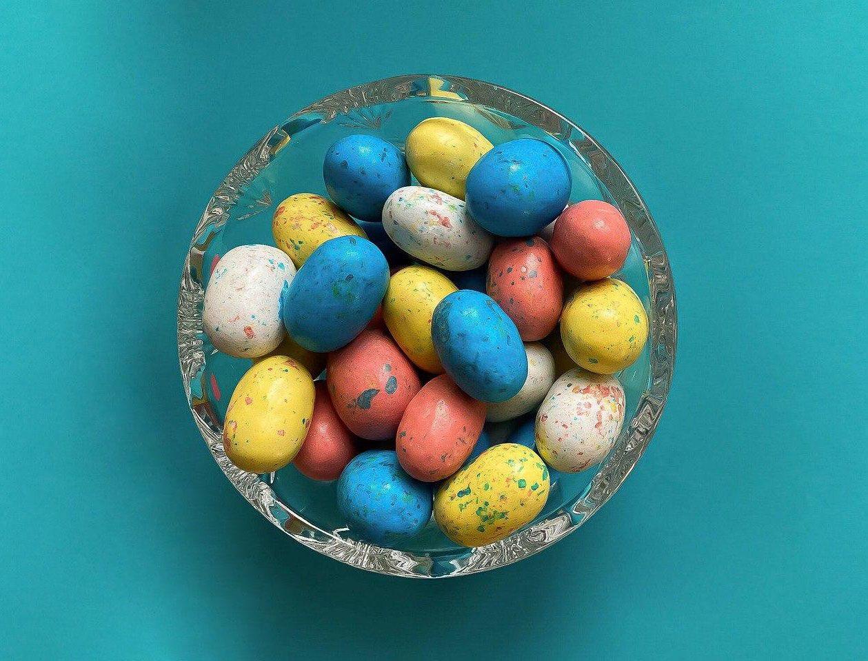 Яйця, Великдень, цукерки