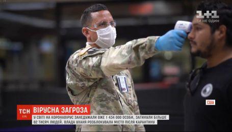 Майже півтора мільйона людей хворіють на коронавірус у світі