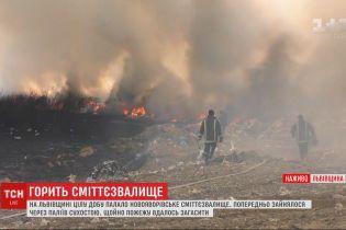Спасателям удалось потушить пожар на новояворивской свалке