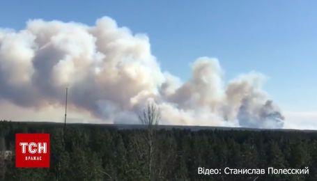 Новое возгорание произошло в Чернобыльской зоне