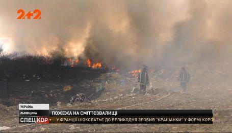 Пожежа у Львівській області: Новояворівське сміттєзвалище палало цілу добу