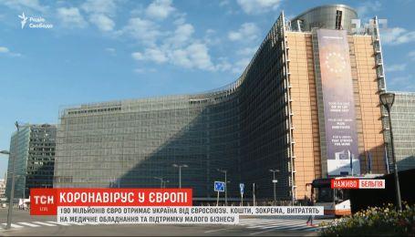 Євросоюз виділить Україні понад 190 мільйонів євро на боротьбу з коронавірусом