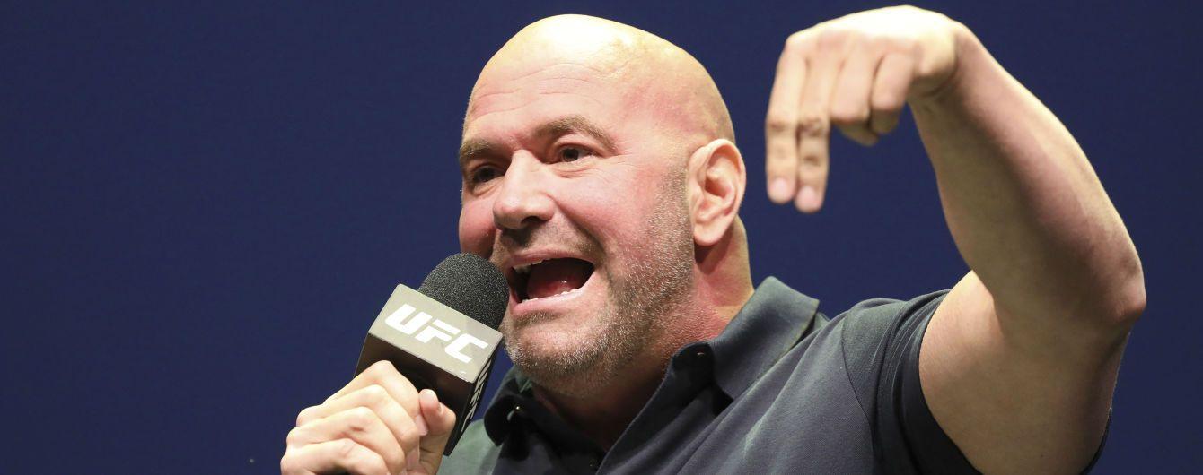 """""""Будемо першим видом спорту, який повернеться"""": бос UFC збирається проводити бої на острові"""