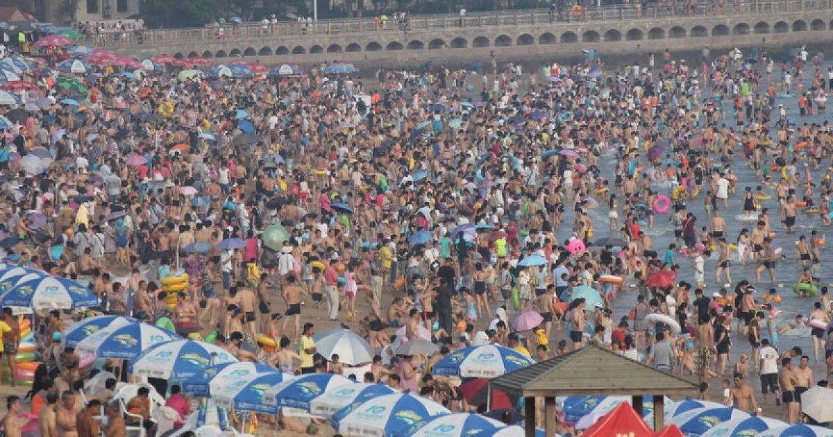 Китайский пляж фото палевая палевые